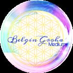 Logo Bunt mit der Blume des Lebens Medium Belgin Groha