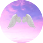 Himmel mit Engelsflügeln