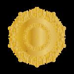 Goldenens Mandala mit Herzen drin
